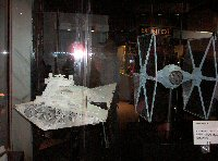 Star Destroyer and TIE Fighter