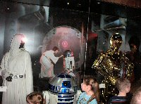 Princess Leia, R2D2, and C3PO